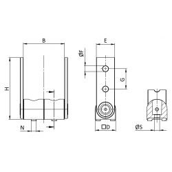 Pivot joint 180° for 40x80 profiles