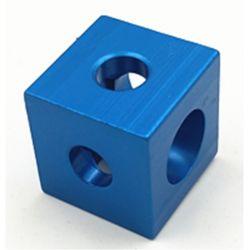 Raccord d'assemblage cubique pour profilés 20x20 mm - 3 voies - Bleu