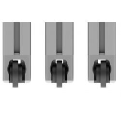 Sliding door guide connector for 45 profiles with 10 mm slot