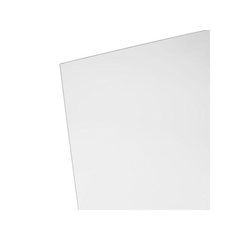 Transparent colourless extruded plexiglass thickness 3 mm