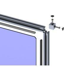 Modular configurable frame - profile 30 with 8 mm slot