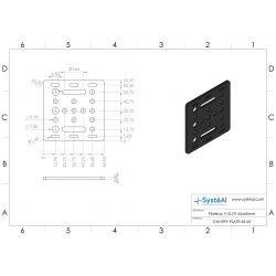 V-Slot Gantry Plate 65x65mm