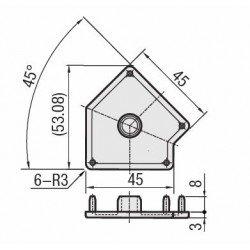 Embout de protection noir pour profilés 2C45C AS 10-45