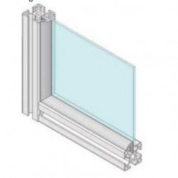 Joints profilés aluminium à fente de 8 mm - pour panneau de 3 mm - Gris-6m
