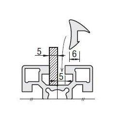 Joints profilés aluminium à fente de 10 mm - pour panneau de 5 mm - Gris