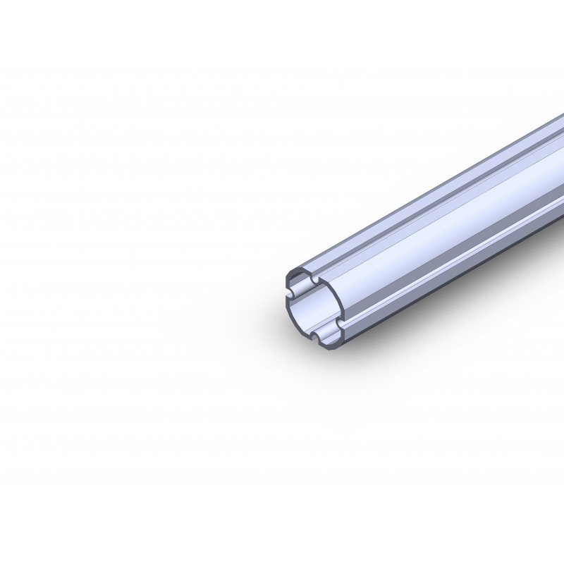 Profilé aluminium rond