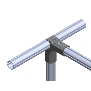 Connectors for industrial round profiles
