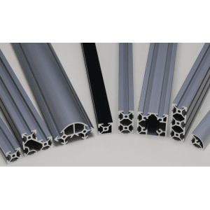Aluminium extrusion slot 6 mm